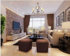 金悦时代-三居室-124平米-装修设计现代风格小户型