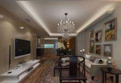 海亮御俯-两居室-89平-装修设计混搭风格小户型
