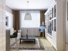 金地小区-一居室-46平米-装修设计现代风格小户型