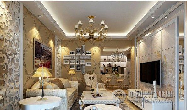 电视背景墙设计-客厅装修效果图-八六(中国)装饰联盟