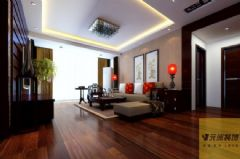 领城现代风格三居室