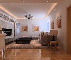 西城国际现代风格三居室