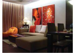 锦绣龙城现代风格三居室