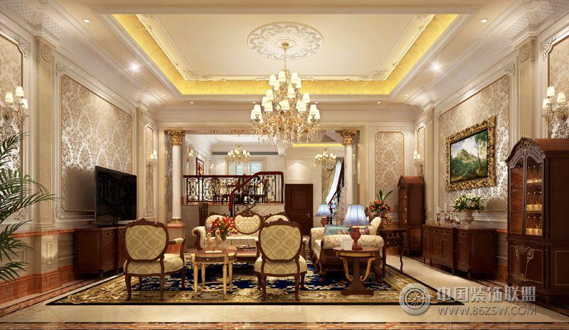 水墨清华美式客厅装修图片