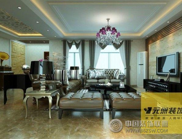 万马相山庭院简欧风格-客厅装修效果图-八六(中国)
