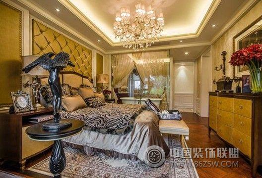 天瑞名城 三居室 139平米 装修设计欧式卧室装修图片