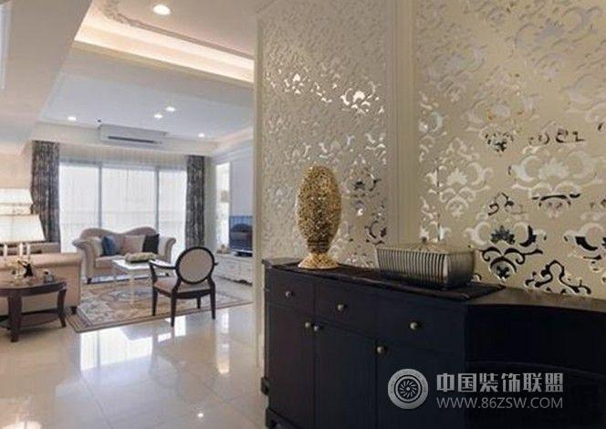 中阳御景-三居室-122平米-装修设计欧式玄关装修图片