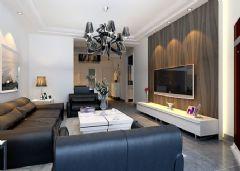 尚鼎国际-二居室-110平米-装修设计现代风格小户型