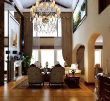 名仕豪园设计案例混搭风格大户型