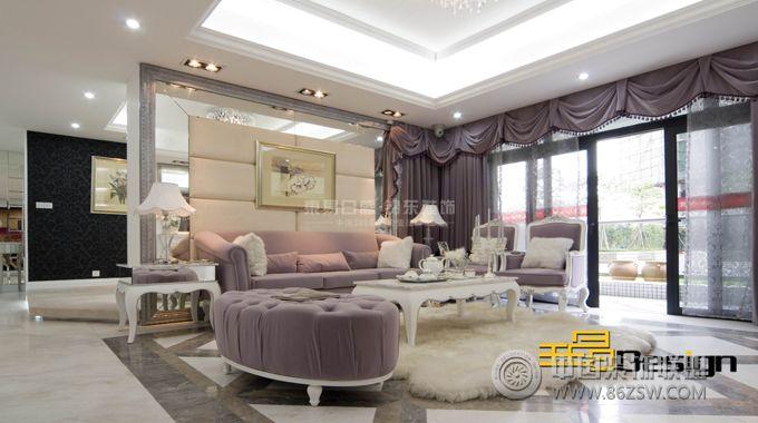 丹桂里之雅致主义欧式客厅装修图片