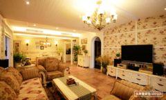 重庆阳光100-田园风格-三居室装修案例现代风格三居室