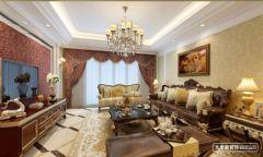 棕櫚泉國際花園-現代歐式風格-大本營裝飾設計案例歐式風格三居室