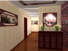 御景花园中式风格三居室
