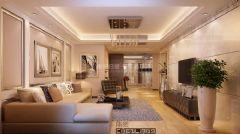东城国际美式风格三居室
