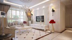 紫薇永和坊欧式风格三居室