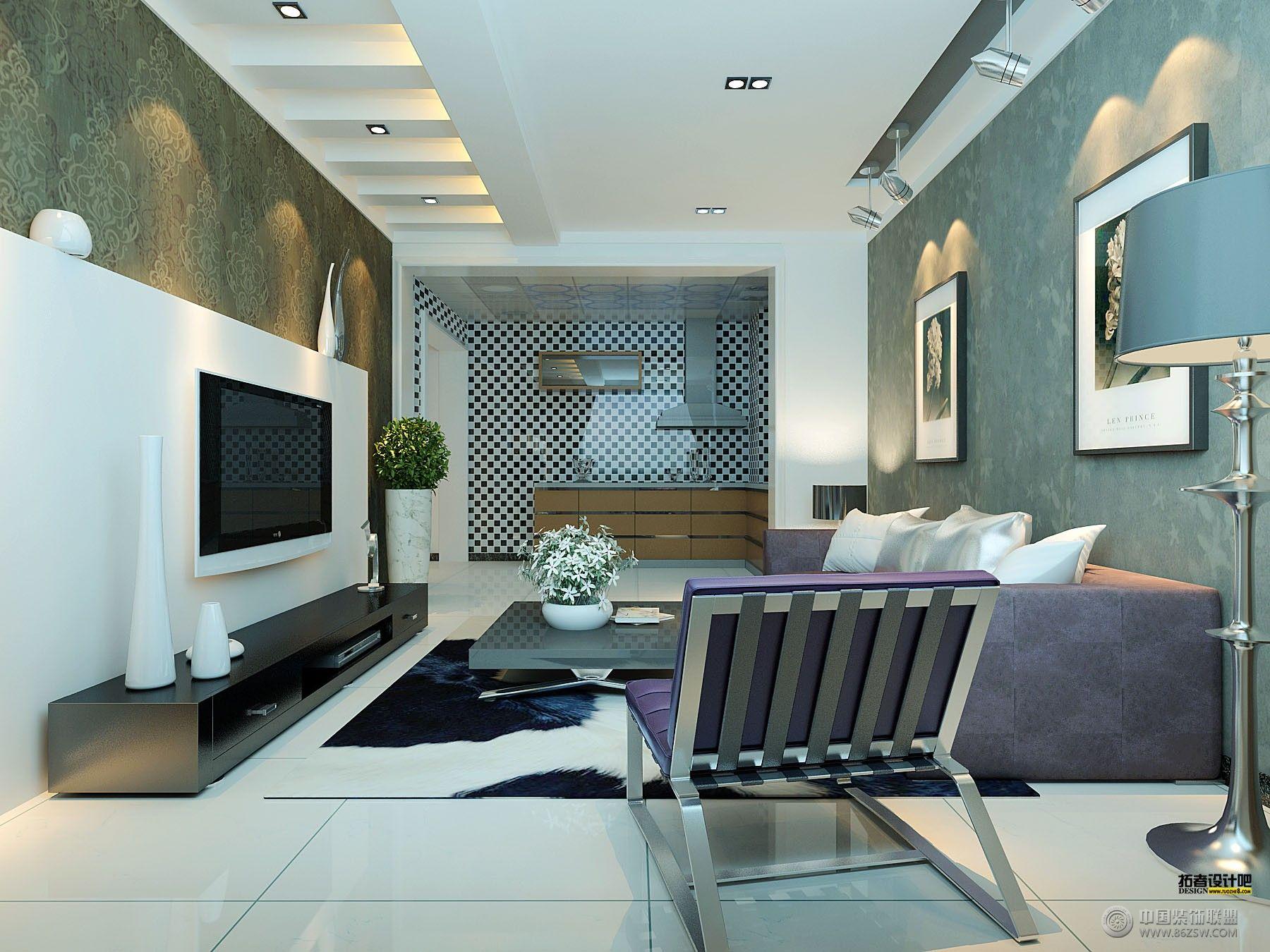 效果图.田园风格客厅背景墙装修图片欣赏室内设计师城市.室