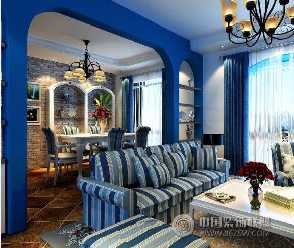 浉河一號地中海客廳裝修圖片