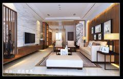 湘潭纳帕溪谷中式风格四居室
