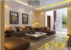 上河城现代风格三居室