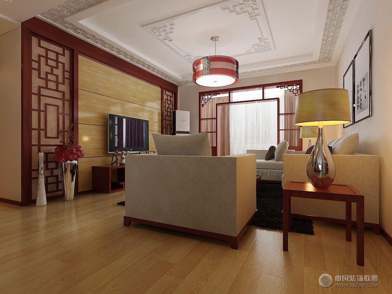 政和花園中式客廳裝修圖片
