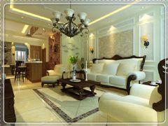 美式混搭别具一格的金地名京美式风格三居室
