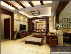 紫阳明星广场中式风格三居室