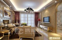 月泉花城现代风格三居室