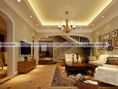 清溪玫瑰园装修案例美式风格别墅