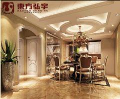阜康明珠花园样板间欧式风格三居室