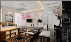 现代花园-三居室-120平东南亚风格三居室
