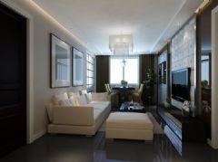 中央商务区-二居室-78平米-装修设计现代风格小户型