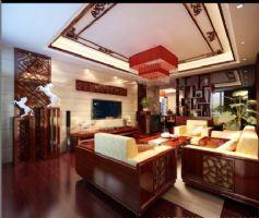 昊元上品中式风格三居室