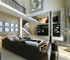 高家巷小区-三居室-228平米-装修设计混搭风格三居室