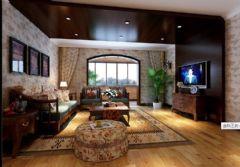 威肯郡-三居室-145平-装修设计混搭风格小户型