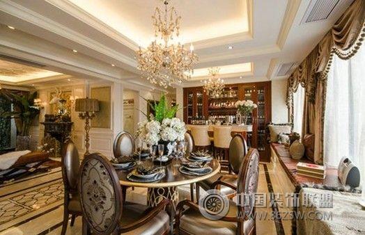 玉泉e区 三居室 139平米 装修设计欧式餐厅装修图片