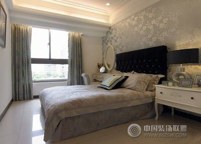 城南 水韵江三居室 122平米 装修设计欧式卧室装修图片