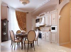 百步亭现代城欧式风格三居室