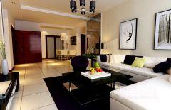 新城风景120现代现代风格三居室