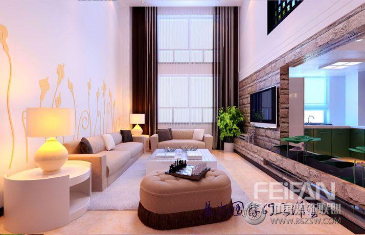 香逸名苑_现代三居室复式装修效果图_八六(中国)装饰图片