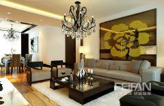 明湖123平现代奢华现代风格三居室