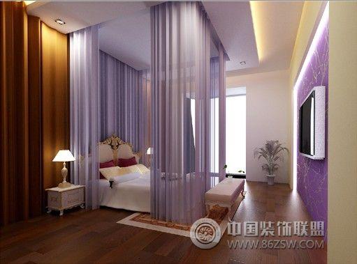 臥室方案效果圖集_混搭一居室小戶型裝修效果圖_八六