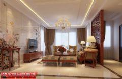 天禧玫瑰园中式风格三居室
