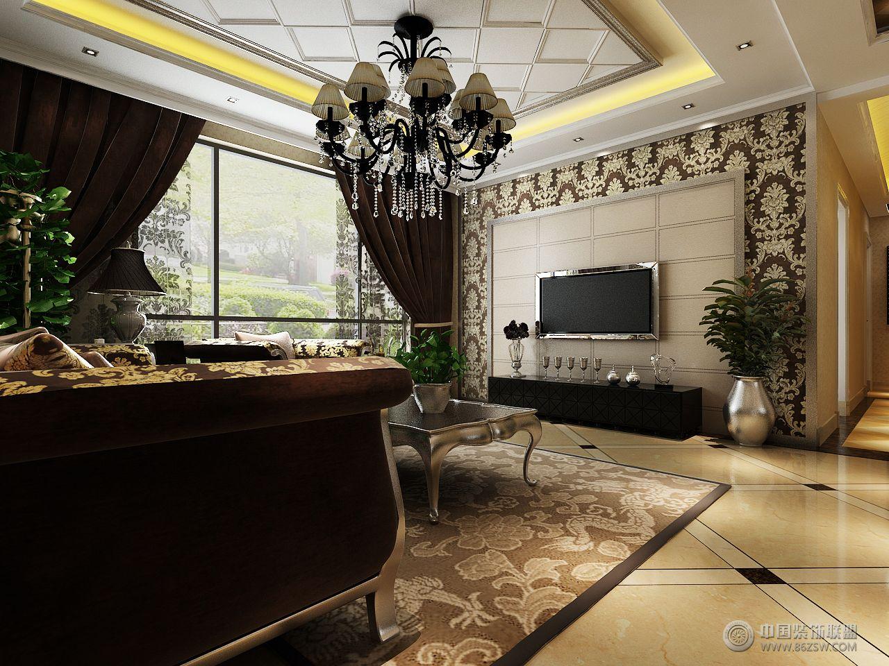 新儒苑欧式客厅装修图片