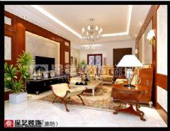 华夏铂宫中式风格六居室