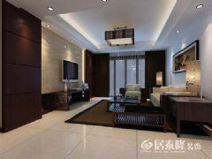 滨河御景中式风格三居室