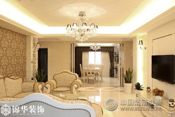桃源居(新)_欧式三居室装修效果图_八六(中国)装饰(86