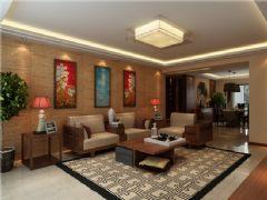 威高花园赵姐雅居中式风格三居室