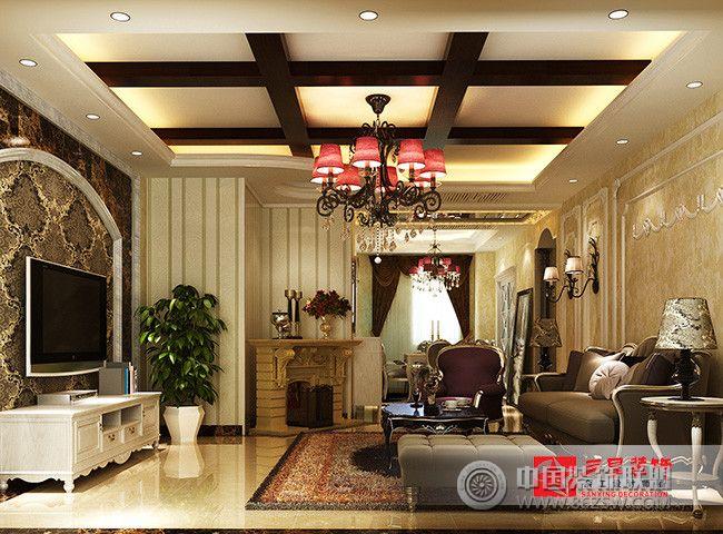 阳光首院小区简欧风欧式客厅装修图片