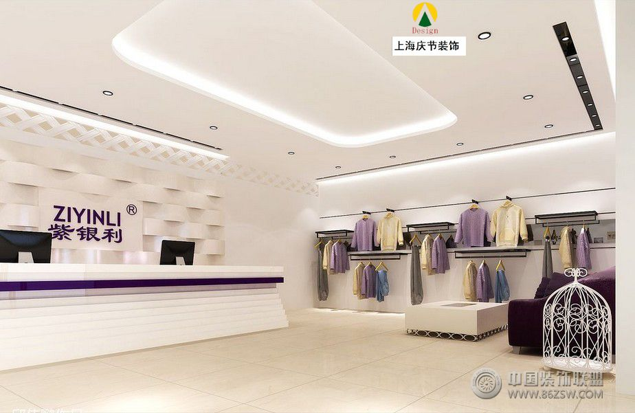 女士服装店整套大图展示_服装店装修效果图_八六(中国