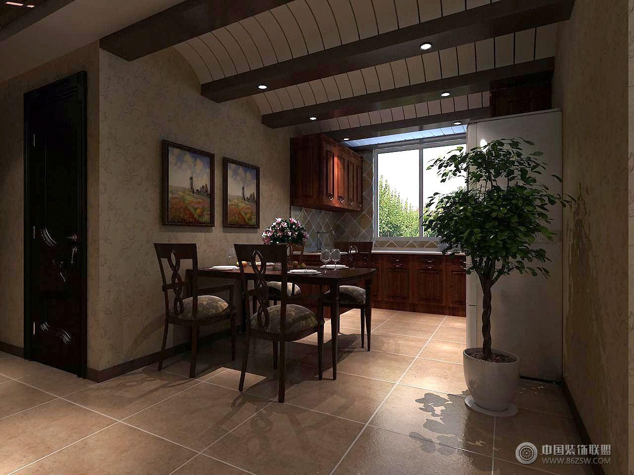 红叶山庄美式客厅装修图片图片